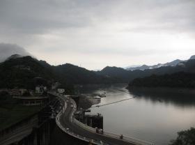 Shihmen Dam in Taoyuan, Taiwan.
