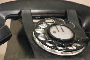 Rotary landline wireline phone