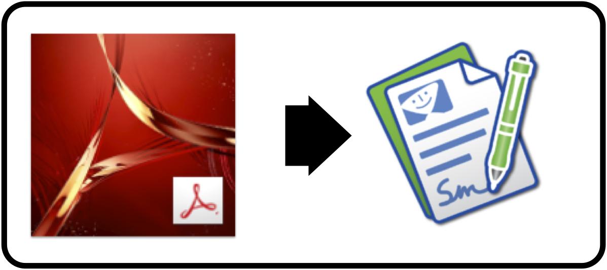 Acrobat to SmileOnMyMac's PDFPen
