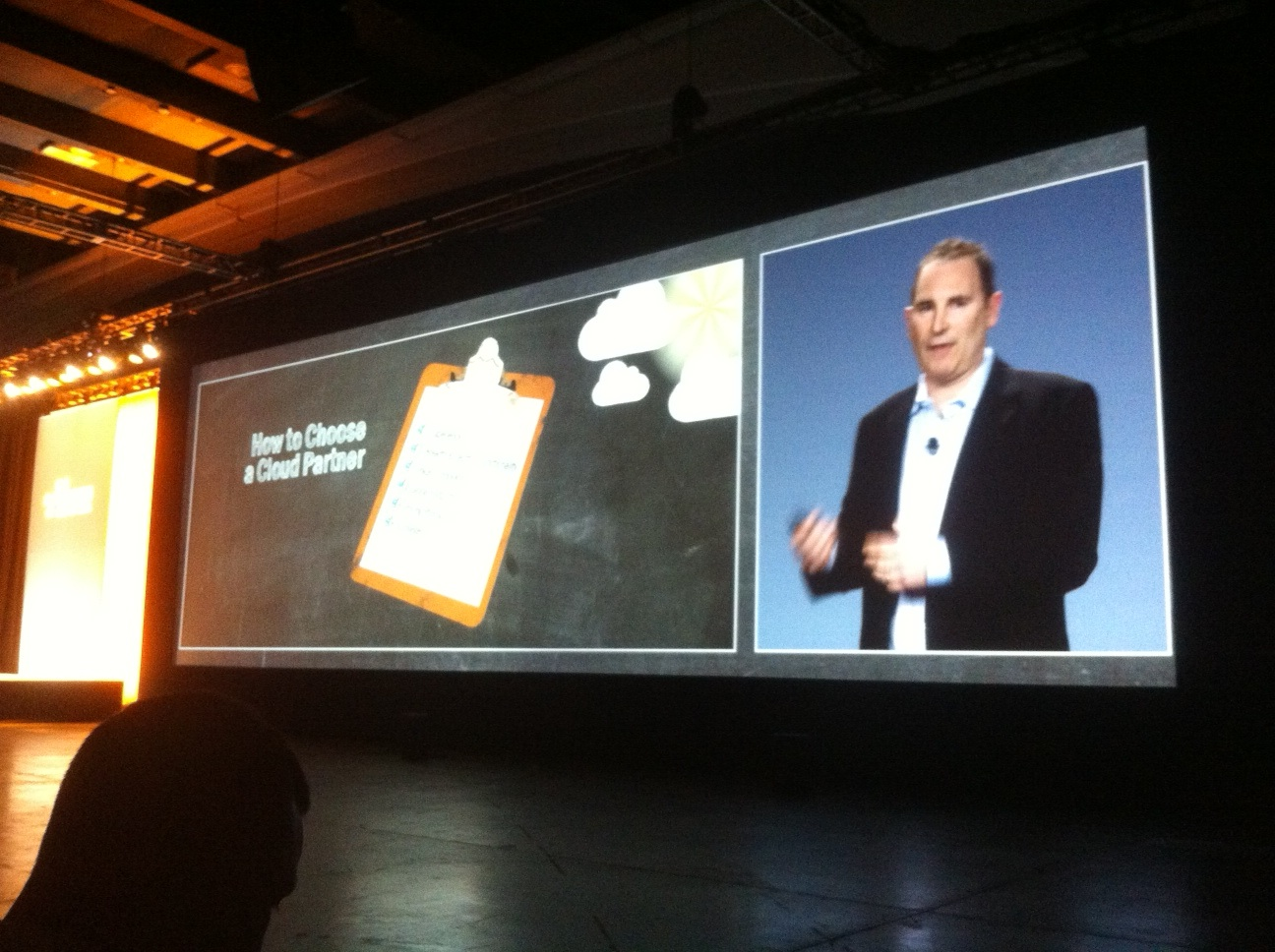 Andy Jassy, senior vice president of Amazon Web Services, at AWS Summit 2013 in San Francisco, April 30, 2013