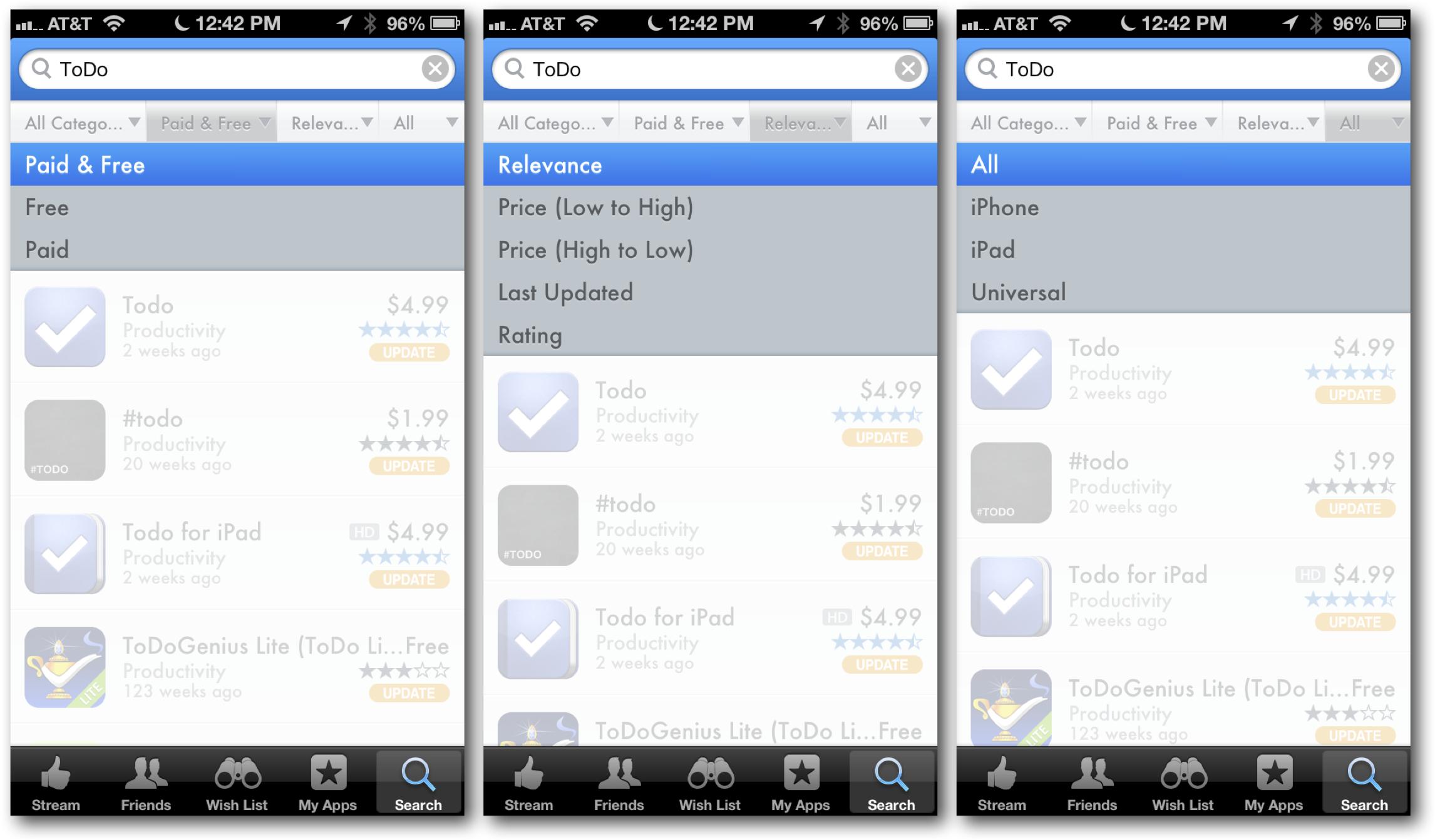 AppShopper Search