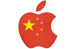 China-flag-Apple-logo
