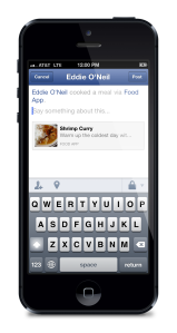 facebook iphone sharing