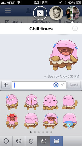 facebook stickers design emoji