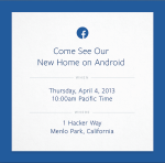 Live blog: Facebook's new Home