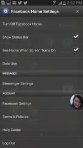 Facebook+home+settings