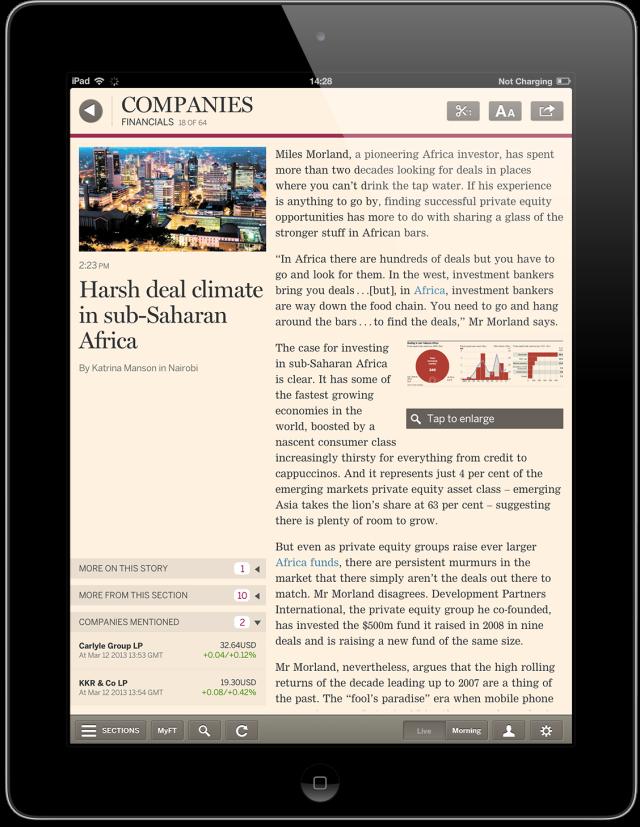 Financial Times web app