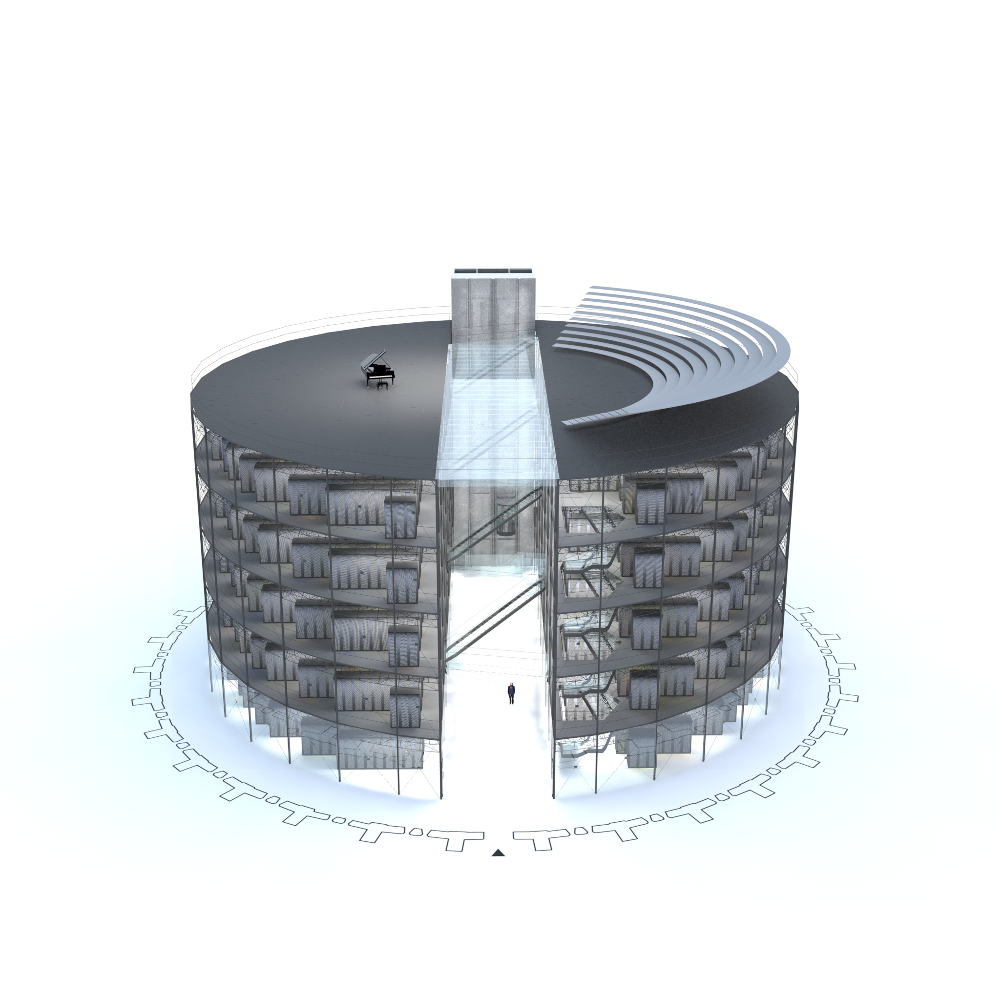 Gasometer proposal from architect Albert France-Lanord