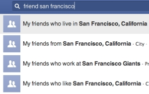 Facebook Graph Search function