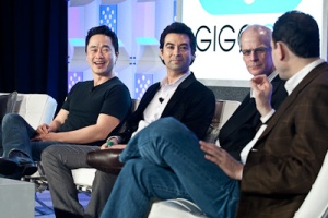 Skytree co-founder Alexander Gray (second from left) at Structure: Data 2012. (c) Pinar Ozger