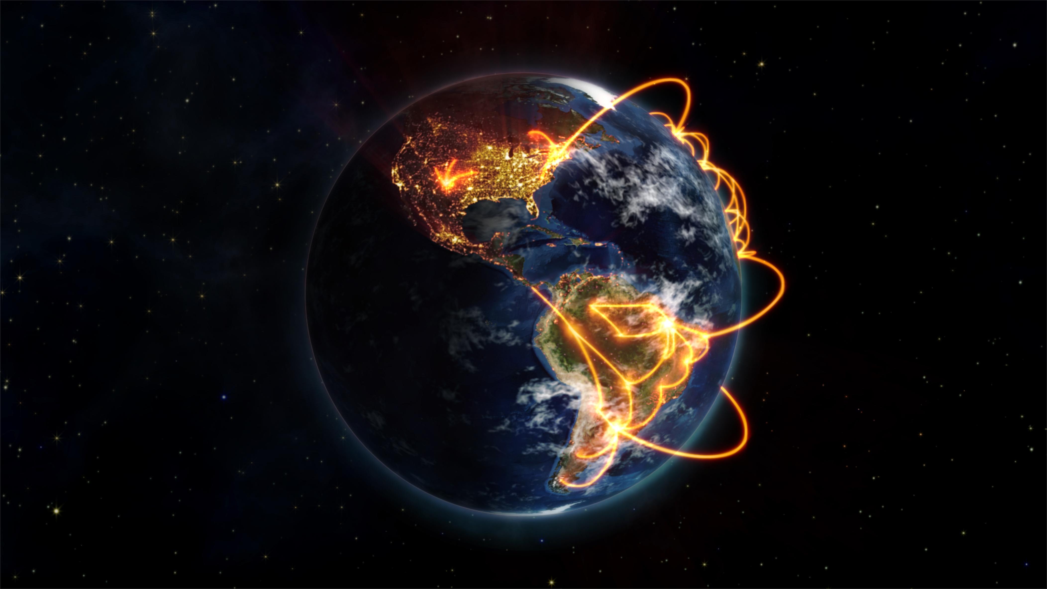 networking globe