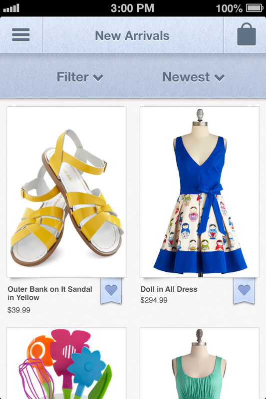 Modcloth iPhone app
