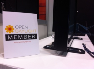 OpenDaylight Project promotional material on display at Open Networking Summit 2013 in Santa Clara, Calif.