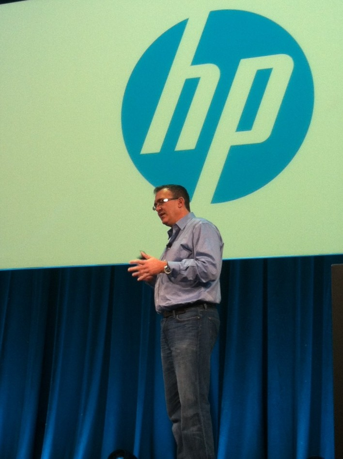 Saar Gillai, Hewlett-Packard senior VP of converged cloud speaking at OpenStack Summit 2013
