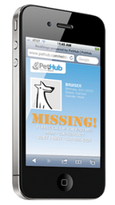 PetHub NFC lost dog