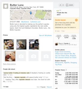 old Foursquare desktop local business listings