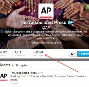 Screenshot of AP tweet