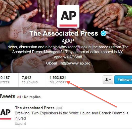 Screenshot of AP tweet