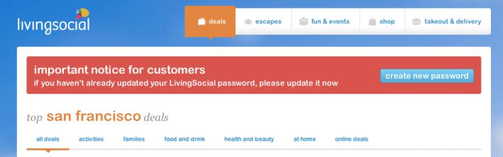 LivingSocial password hack
