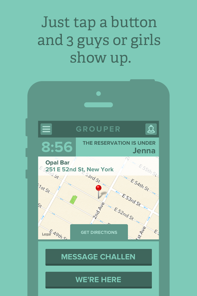 Grouper iPhone app screenshot