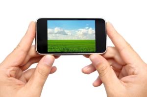 smartphone sideways