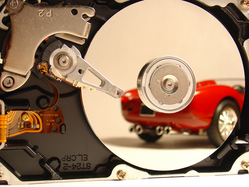 car and disk drive