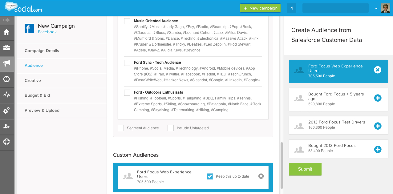 Salesforce.com is adding customer-relationship management tailoring to social publishing tools.