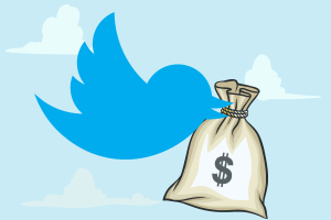 twitter money advertising revenue income bird generic