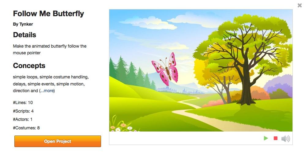 tynker butterfly