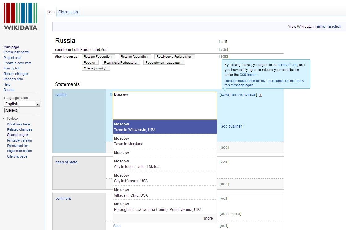 Wikidata Russia