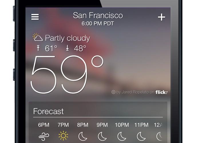Yahoo Weather iPhone