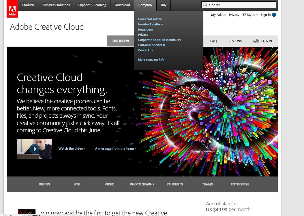 Adobe Creative Cloud at IU
