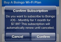 Boingo in-app purchase