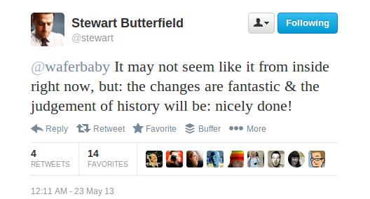 Butterfield Flickr tweet