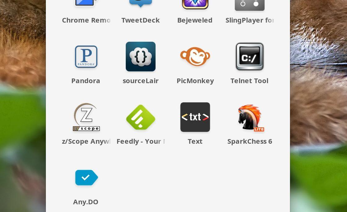 Chrome OS apps