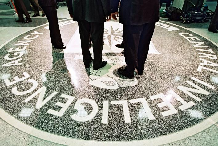 President Bush Tours CIA Headquarters