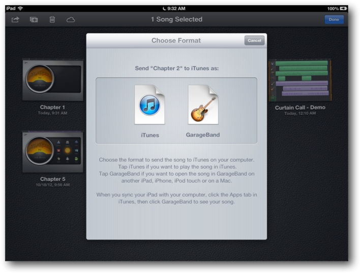 Export iPad Recorded Cahpters to iTunes