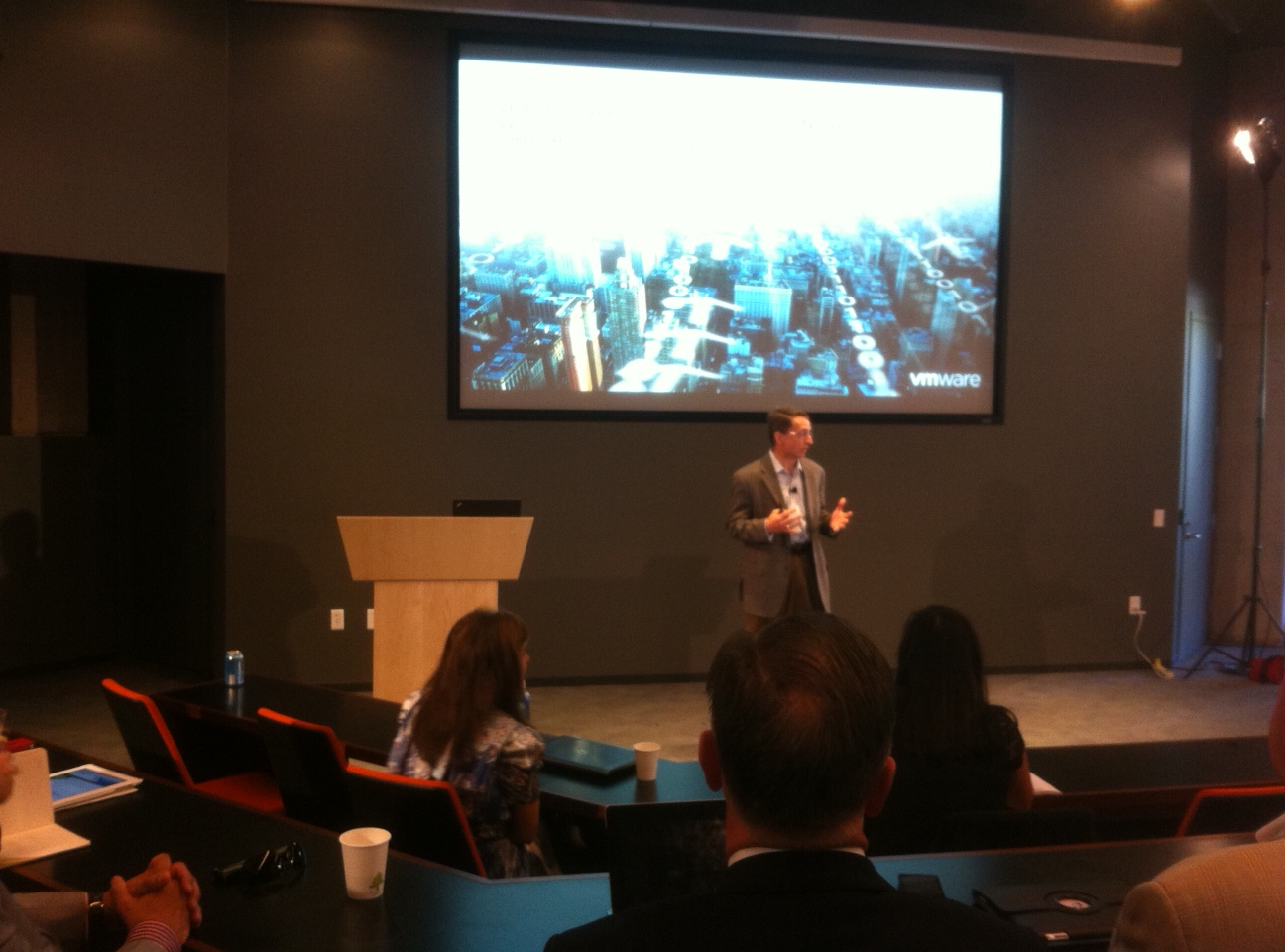 Pat Gelsinger, CEO of VMware, at press event to unveil details on vCloud Hybrid Service