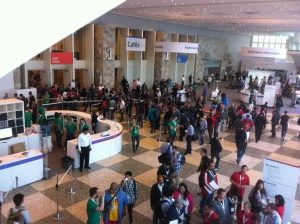 The Google I/O developer conference at the Moscone Center in San Francisco on May 15.