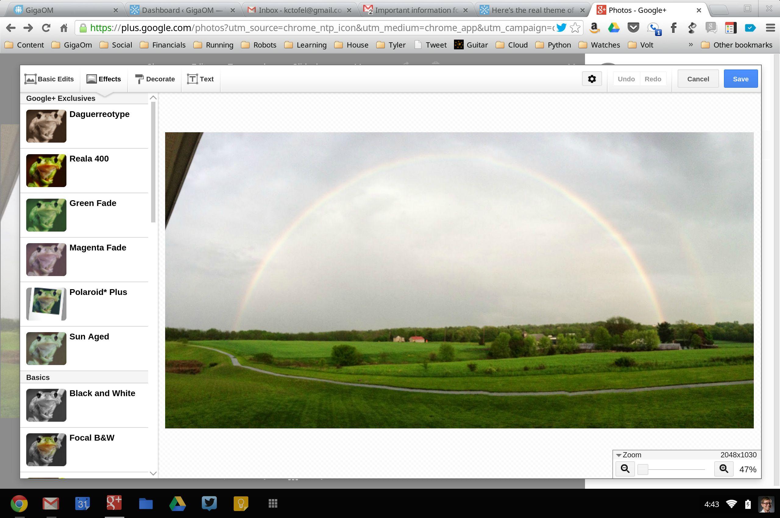 Google Plus photo editor