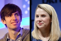 David Karp at paidContent Live 2013, photo by Albert Chau; Marissa Mayer at TechCrunch Disrupt NY 2013, photo by Brian Ach/Getty Images