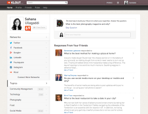 Klout questions