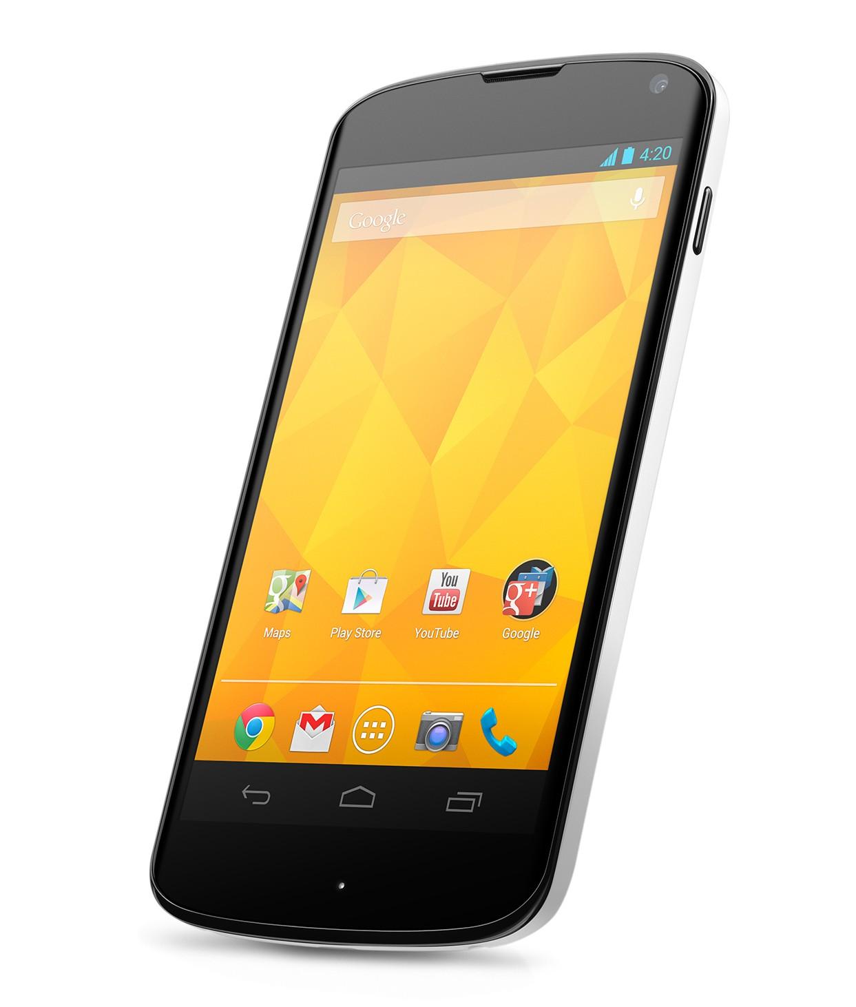 LG Nexus 4 White angled