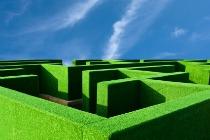 maze and sky