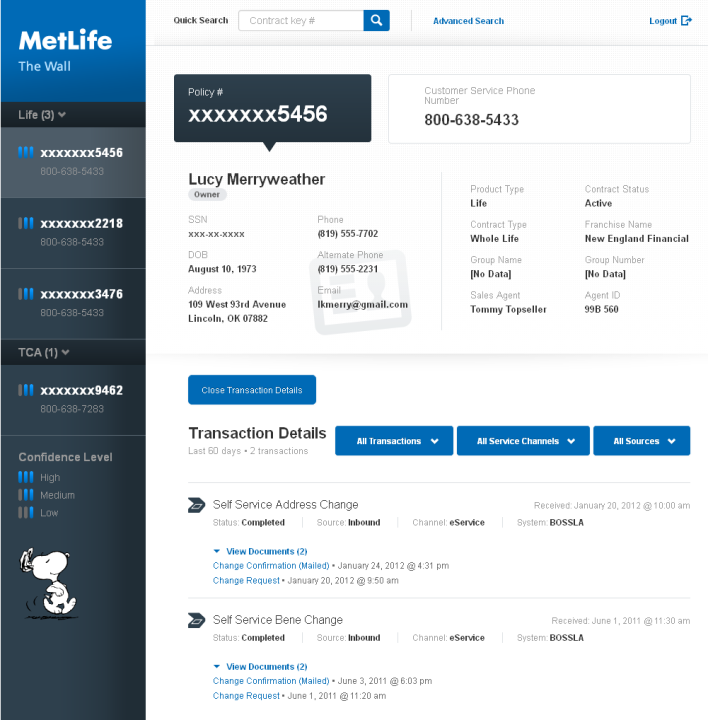 MetLife Screen Shot_Active Contract