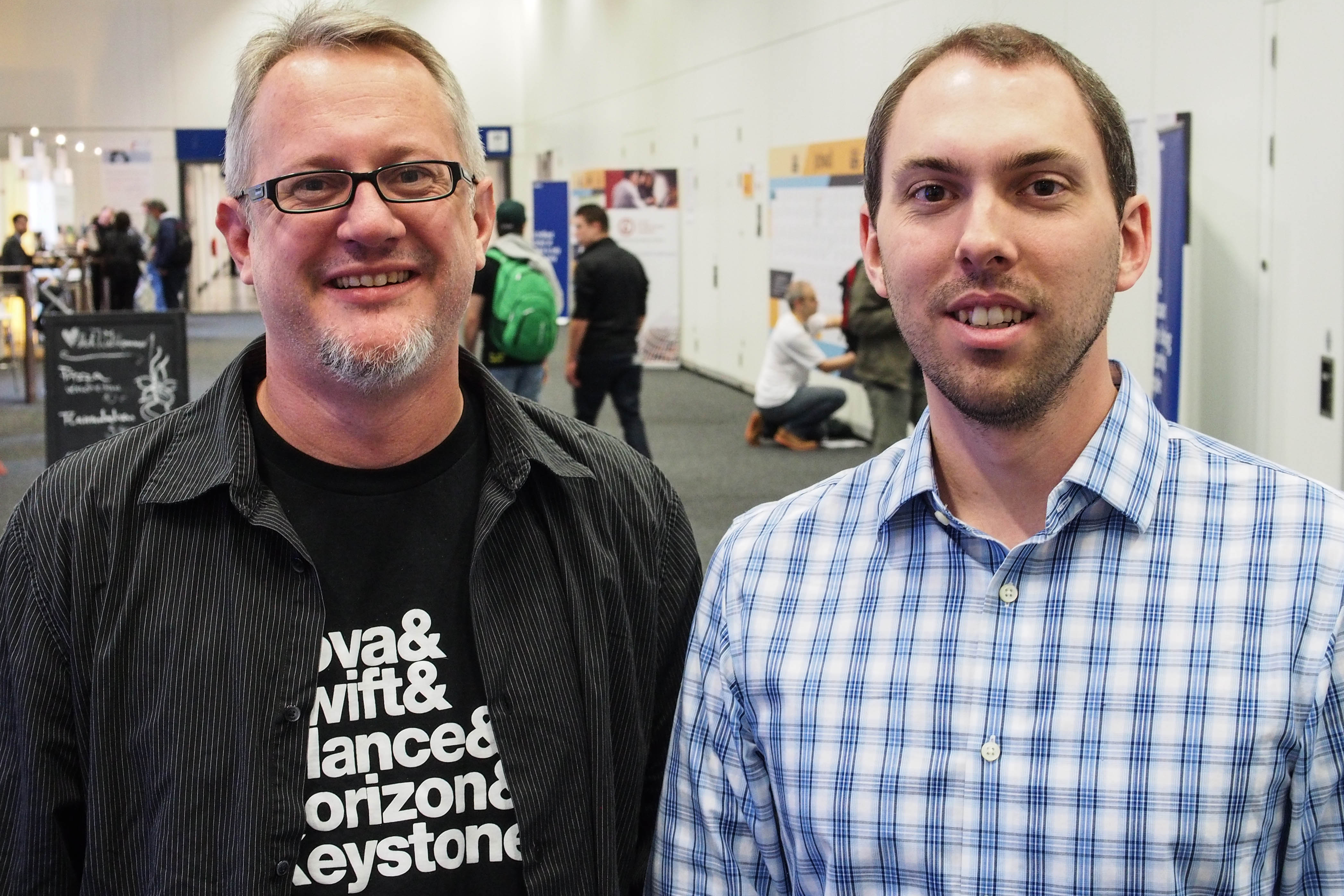 OpenStack Foundation COO Mark Collier (L) and Executive Director Jonathan Bryce (R)