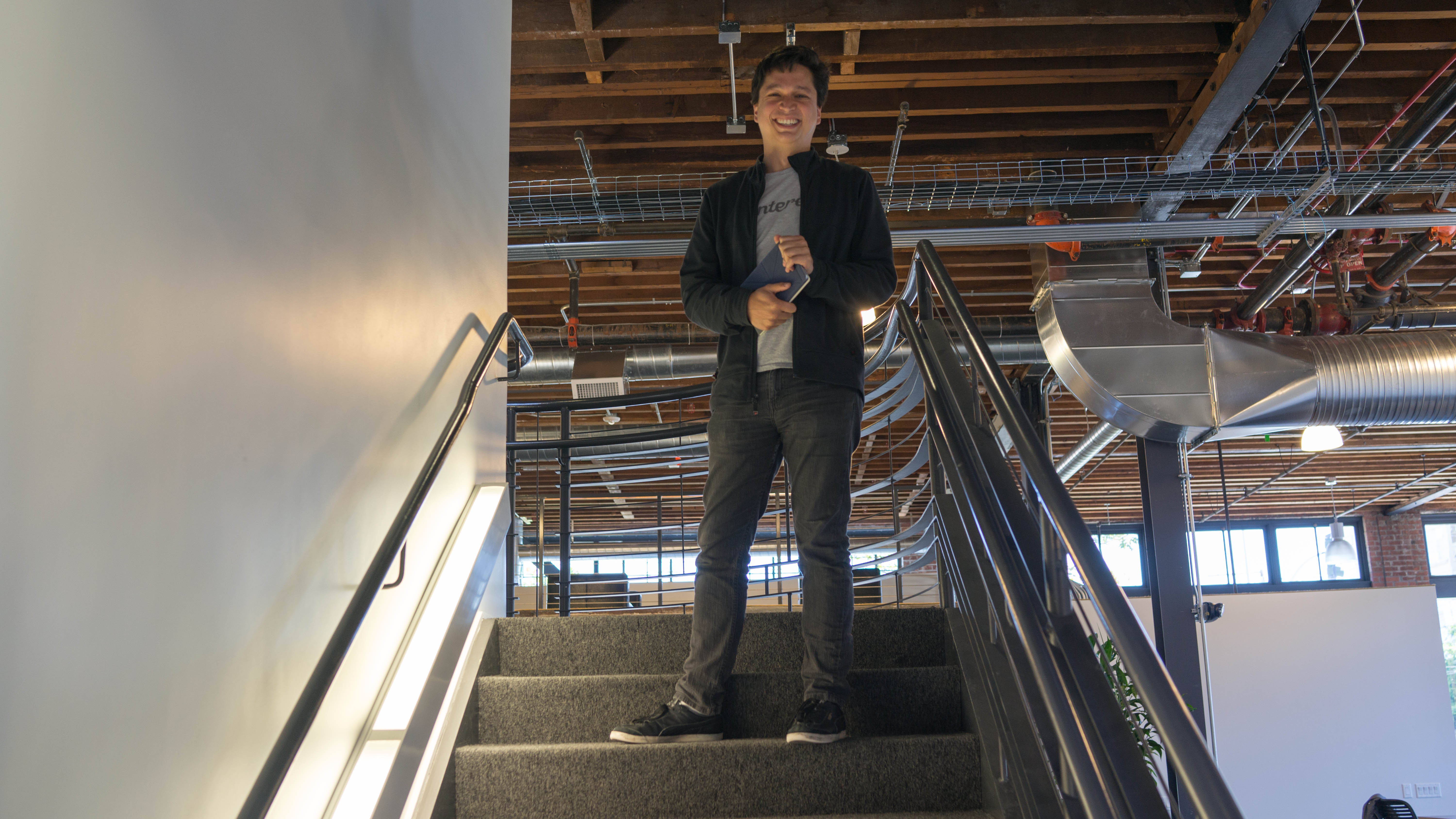 Pinterest CEO Ben Silbermann at the company's new offices in San Francisco.