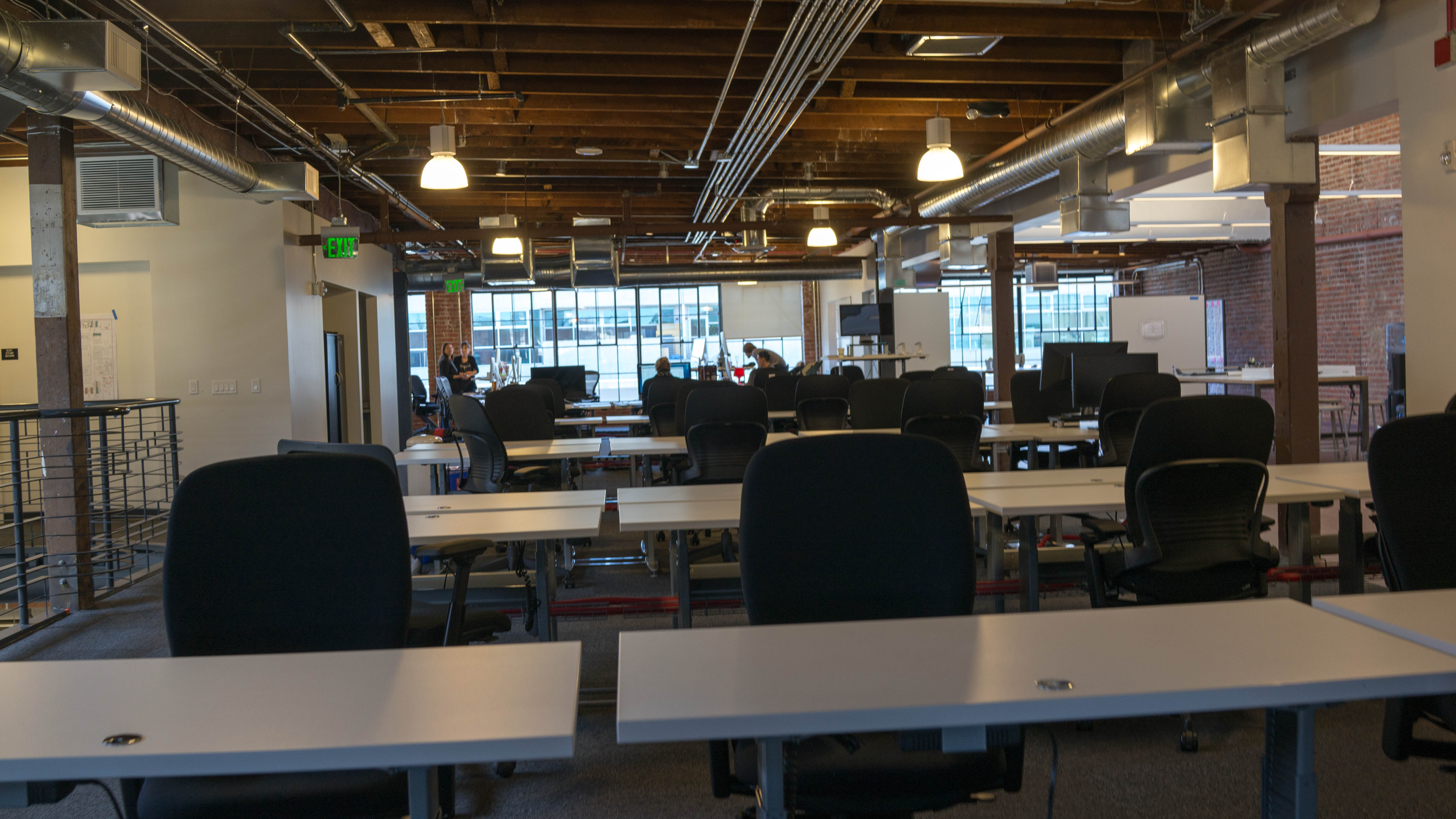 Work spaces at Pinterest.