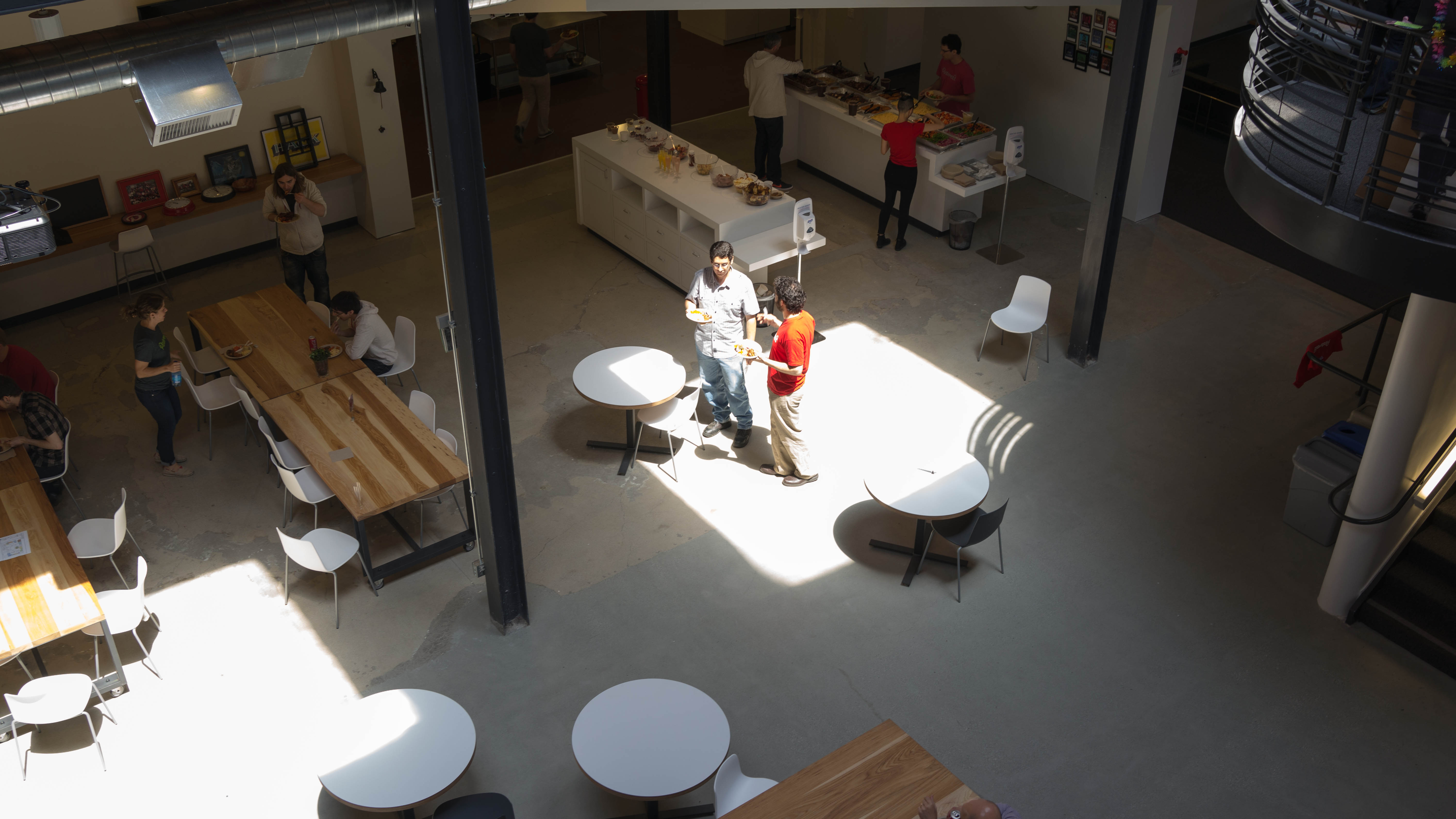 A view of the new Pinterest offices from above.