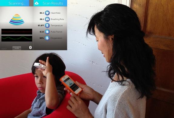 The Scanadu health monitoring device